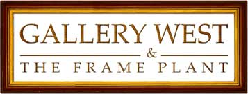 Logo Gallery West and The Frame Plant